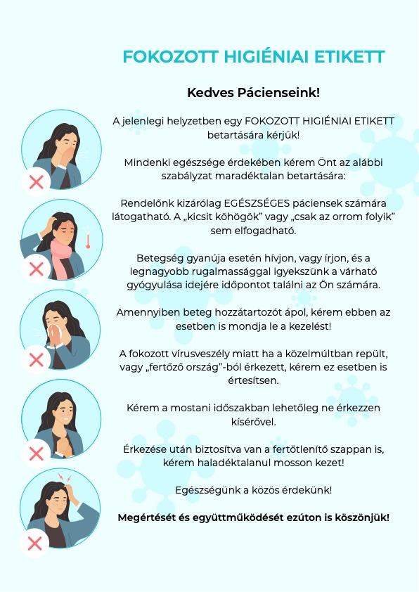 Jókai Dental Fogászat - Fokozott Higiéniai Etikett